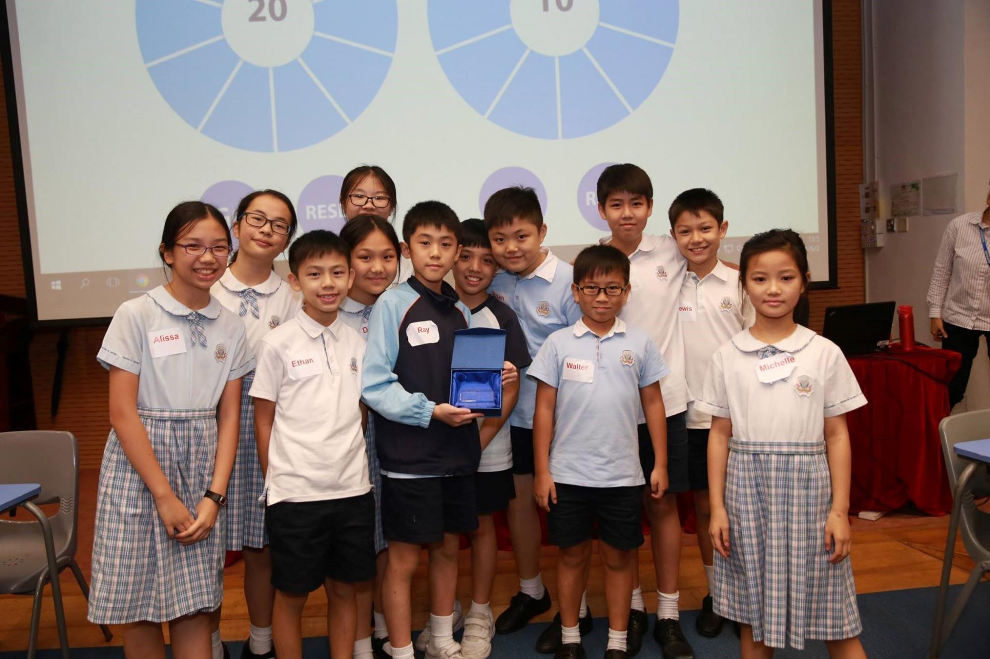 Hong Kong Battle of the Books (Modified Primary) winners 2016-17